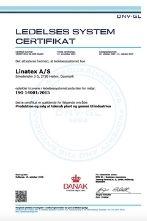 linatex ISO 14001-2015 miljoe certifikat